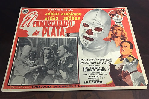 El Enmascarado De Plata (The Silver Masked Man) 1952 Lobby Card