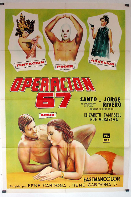 "Santo in Operation ""67"" (Operacion 67) 1966"