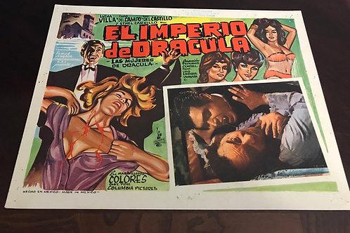 """El Imperio De Dracula (The Empire of Dracula) 1967 Lobby Card"