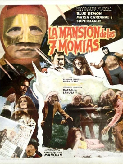 The Mansion of The 7 Mummies (1977) Lucha-Horror