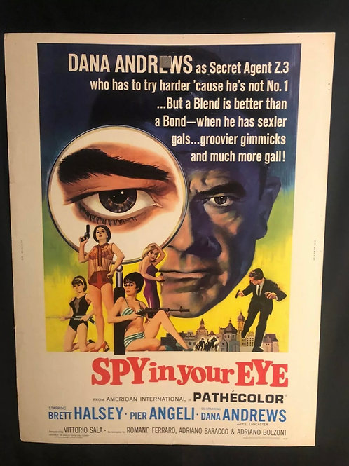 Spy In Your Eye (1966) 30x40 Movie Poster Eurospy Dana Andrews