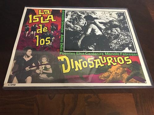 La Isla De Los Dinosaurios (The Island of The Dinosaurs) 1966 Lobby Card
