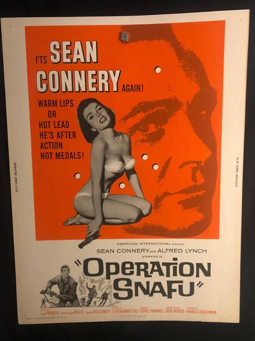 "Operation Snafu (1965) 30x40"" Movie Poster Sean Connery, Spy, James Bond, 007"
