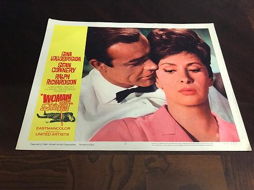 """Woman Of Straw 1964 #2 11x14"""" Original Lobby Card 1443 Sean Connery-Lollobrigida"""