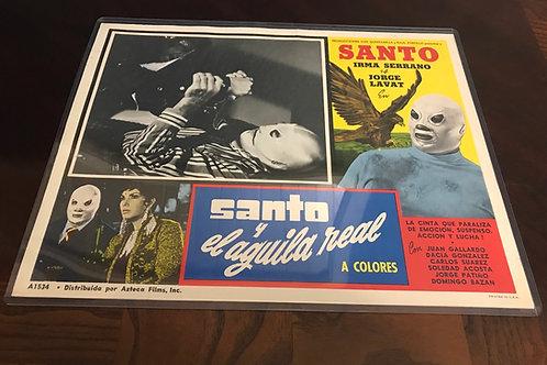 Santo y El Águila Real (Santo And The Real Eagle 1971 Lobby Card