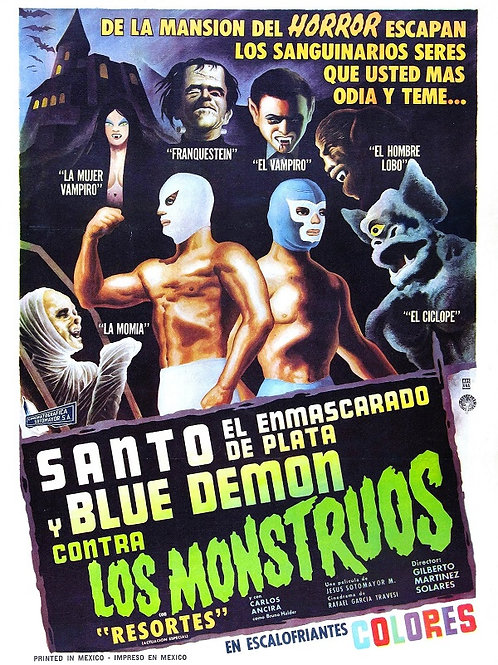 """Santo and Blue Demon Vs. The Monsters"" (Contra Los Monstruos) 1969"