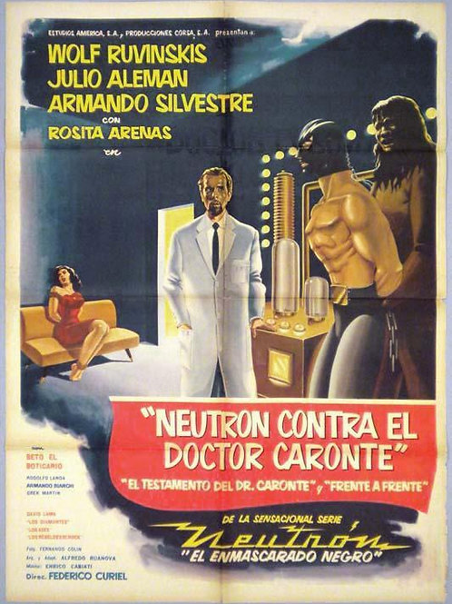Neutron Vs. Doctor Caronte (1960) Horror Sci-Fi