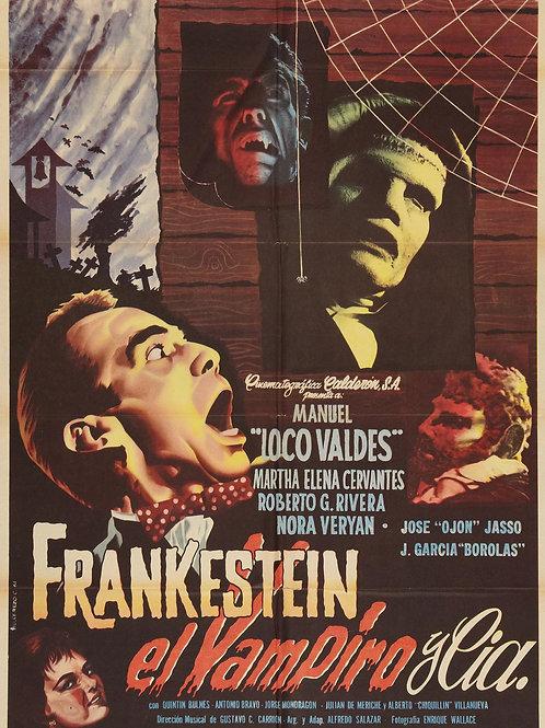 Frankenstein Vampire & Company 1962 (Mexican Horror Comedy)