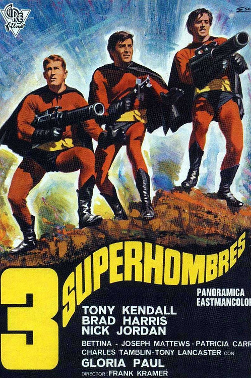 The Three (3) Fantastic Supermen 1967 Superhero (Eurospy
