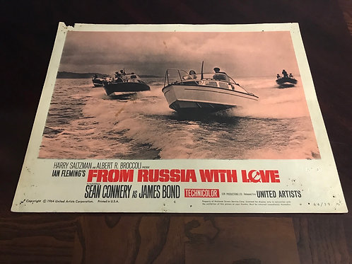 From Russia with Love Sean Connery Bond 1964 Original Movie Vintage Lobby Card