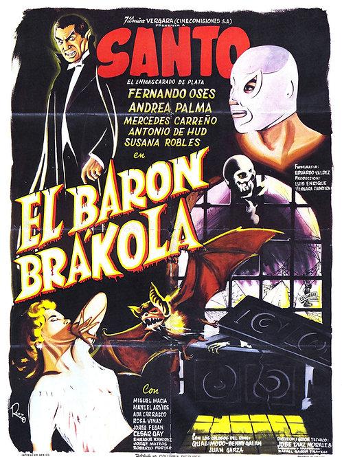 Santo Vs El Baron Brakola 1965 Lucha Horror