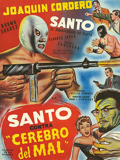 Santo Vs. The Evil Brain (Contra El Cerebro Del Mal) 1958