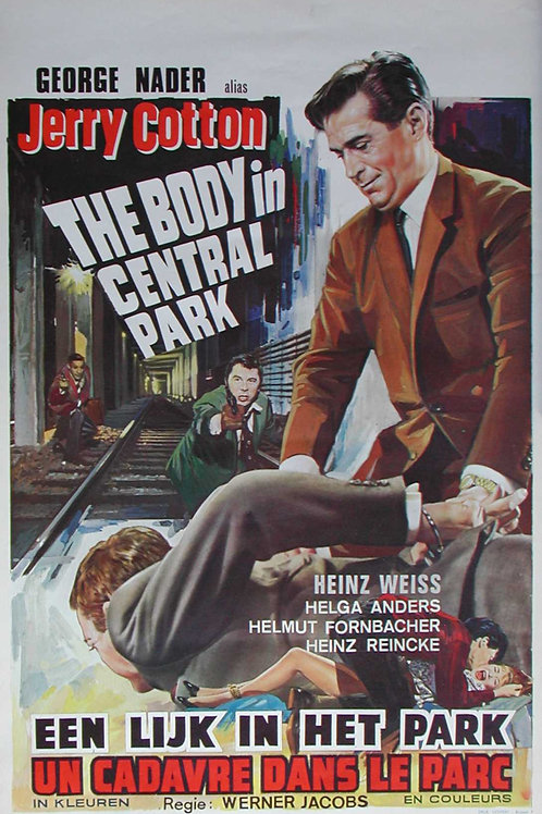 "Jerry Cotton ""G"" Man ""Body in Central Park"" (1967)"