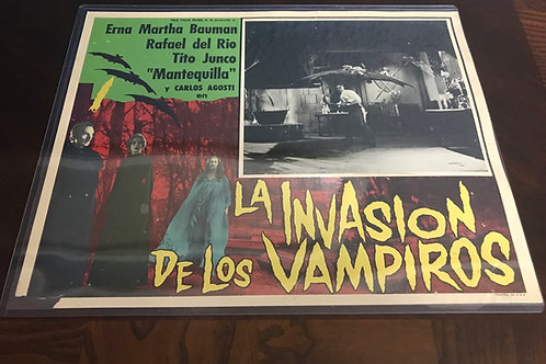 La Invasion De Los Vampiros (The Invasion of The Vampires) 1961 Lobby Card