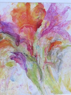 001 fantasy floral watercolour on yupo