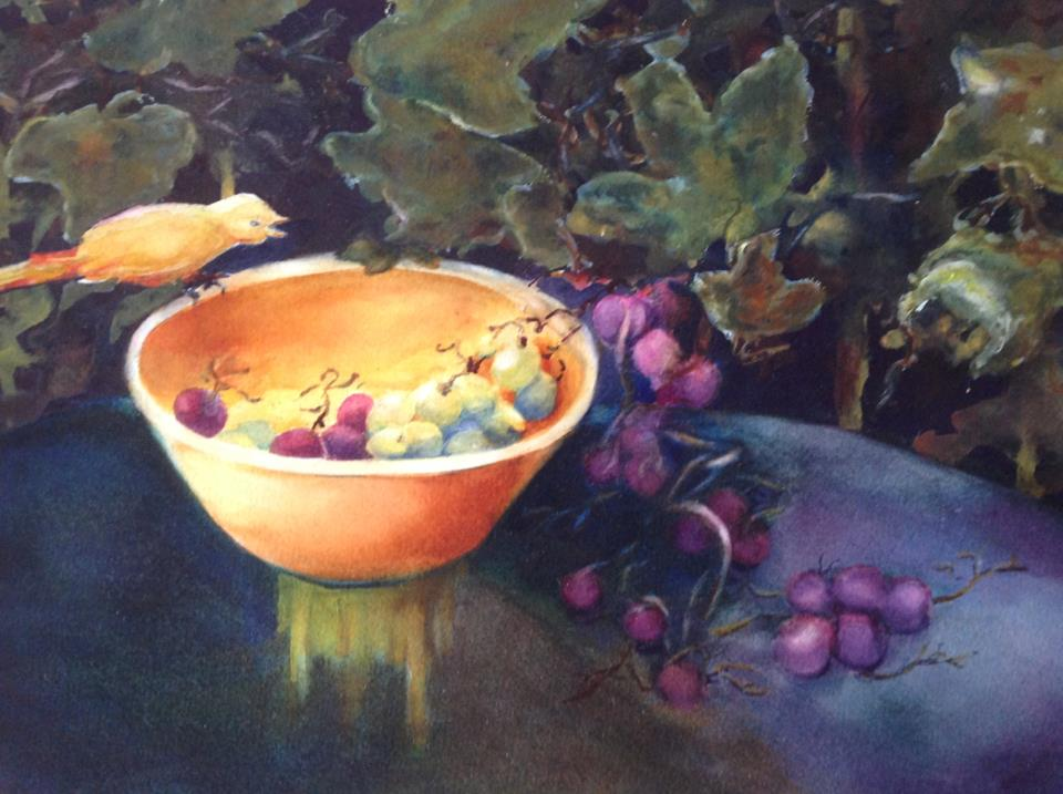 Bird and Grapes