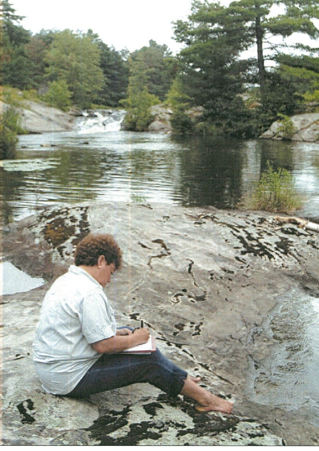 The artist at Deebank Falls