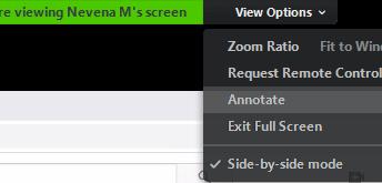 Tôi không vẽ được trên màn hình Zoom?