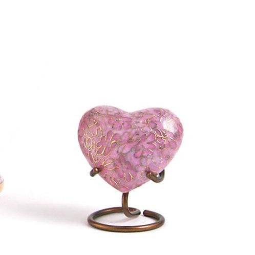 Rose Essence Cloisonné Urn Heart