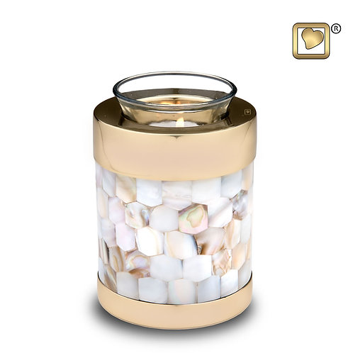 LoveUrns - Mother of Pearl Tealight Candle