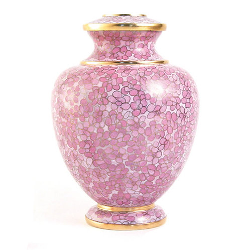 Rose Essence Cloisonné Urn Large