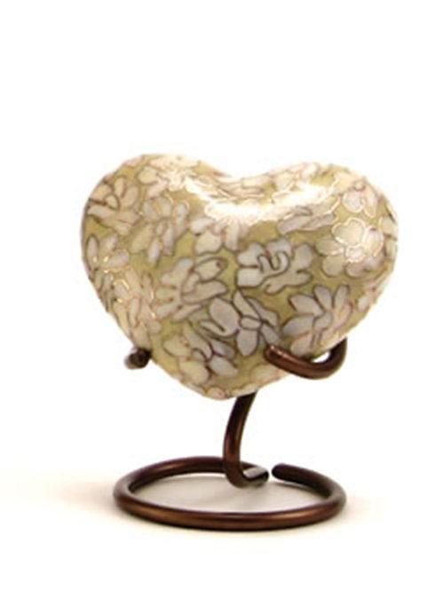 Opal Essence Cloisonné Urn Heart