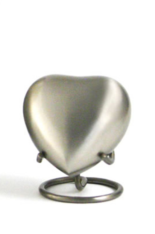 Athena Pewter Urn Heart