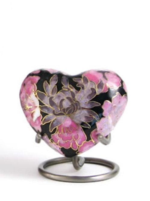 Elite Cloisonné Floral Blush Elite Heart Urn