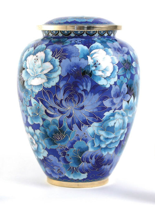 Elite Cloisonné Floral Blue Elite Urn