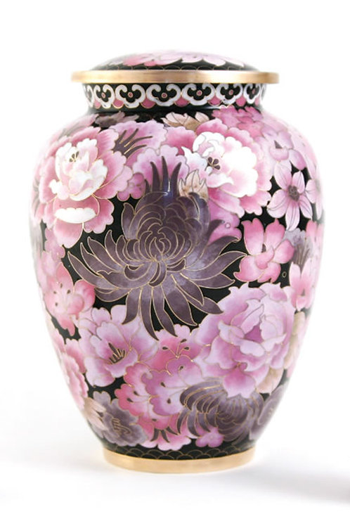 Elite Cloisonné Floral Blush Elite Urn
