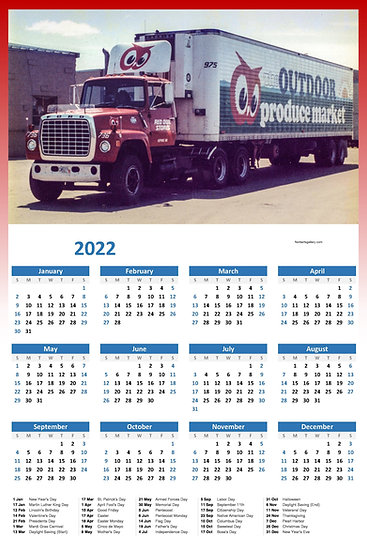 Red Owl Ford Produce Truck Calendar Poster