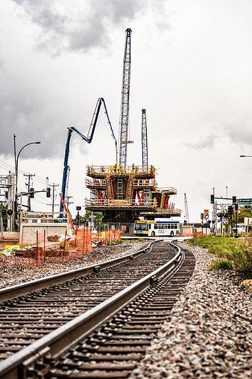 S.W. Light Rail construction Hopkin, Minnesota