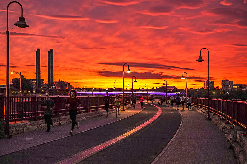 Sunrise at Stone Arch BridgeDSC06715