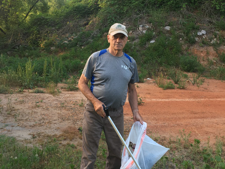 Trash pick-up veteran takes part in Spring Litter Sweep- A Keep RC Beautiful Mini Story