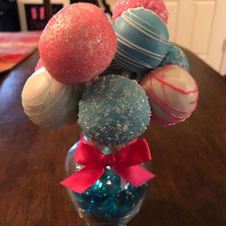 Twin Themed Baby Shower Cake Pops and Pe