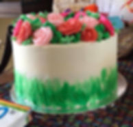 Birthday Rose Wreath Cake