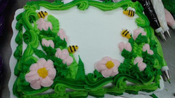 Bee-utiful Garden Cake