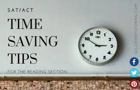 ACT READING…Are you running out of time on Reading?