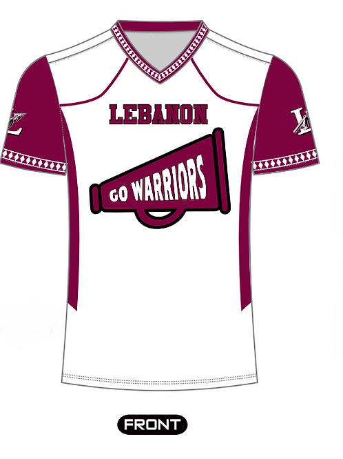 Ladies White Cheer Fan Jersey