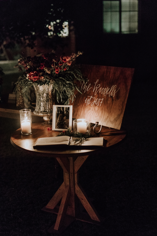 candlelit welcome
