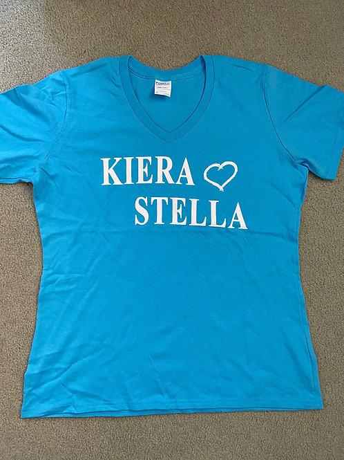 Women's V-neck Heart T-Shirt