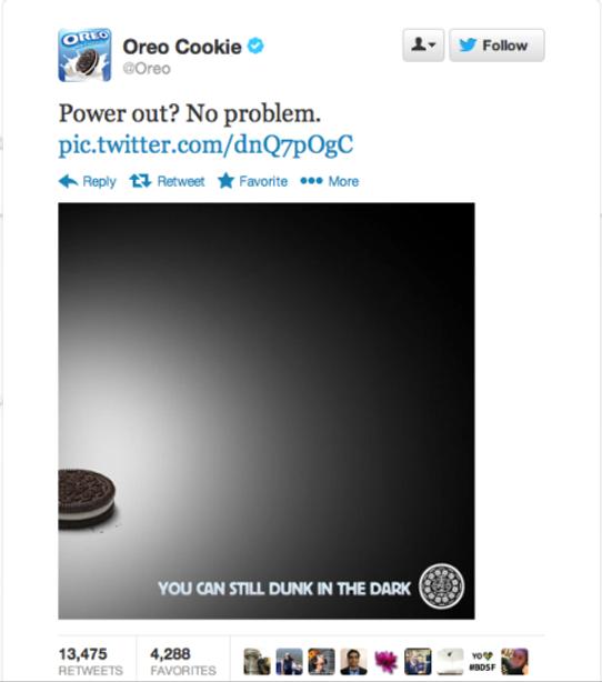 Oreos Super Bowl 2013 tweet