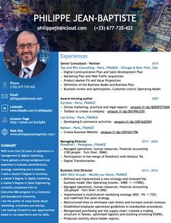 Resume US Philippe JEAN-BAPTISTE 2020