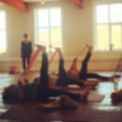 Pilates exercise at Love and Light Shala Pilates Studio