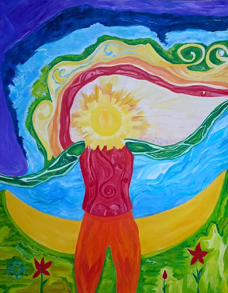 Человек-Солнце с Луны