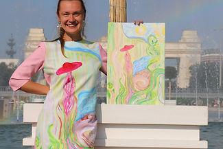 Дарья Шепелева художник энергетические картины трансформирующие сознание и пространство Голубая Сфера artdasha