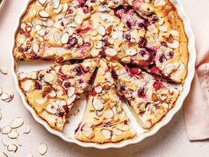 Ginger Cranberry Chutney Clafoutis