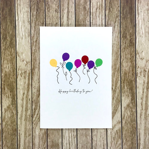 Row of Balloons