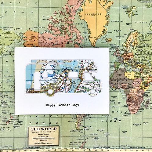 Personalised Map Motor Home Card - Card for Any Occasion - Handmade Greeting Car