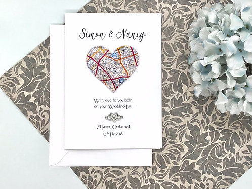 Personalised ~ Wedding ~ Engagement ~ Anniversary ~ Exact Map Location ~ Differe